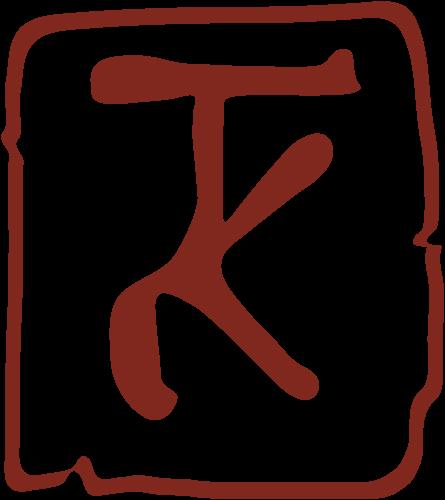 Atelier Kalwa - Logo, Stempel TK rot